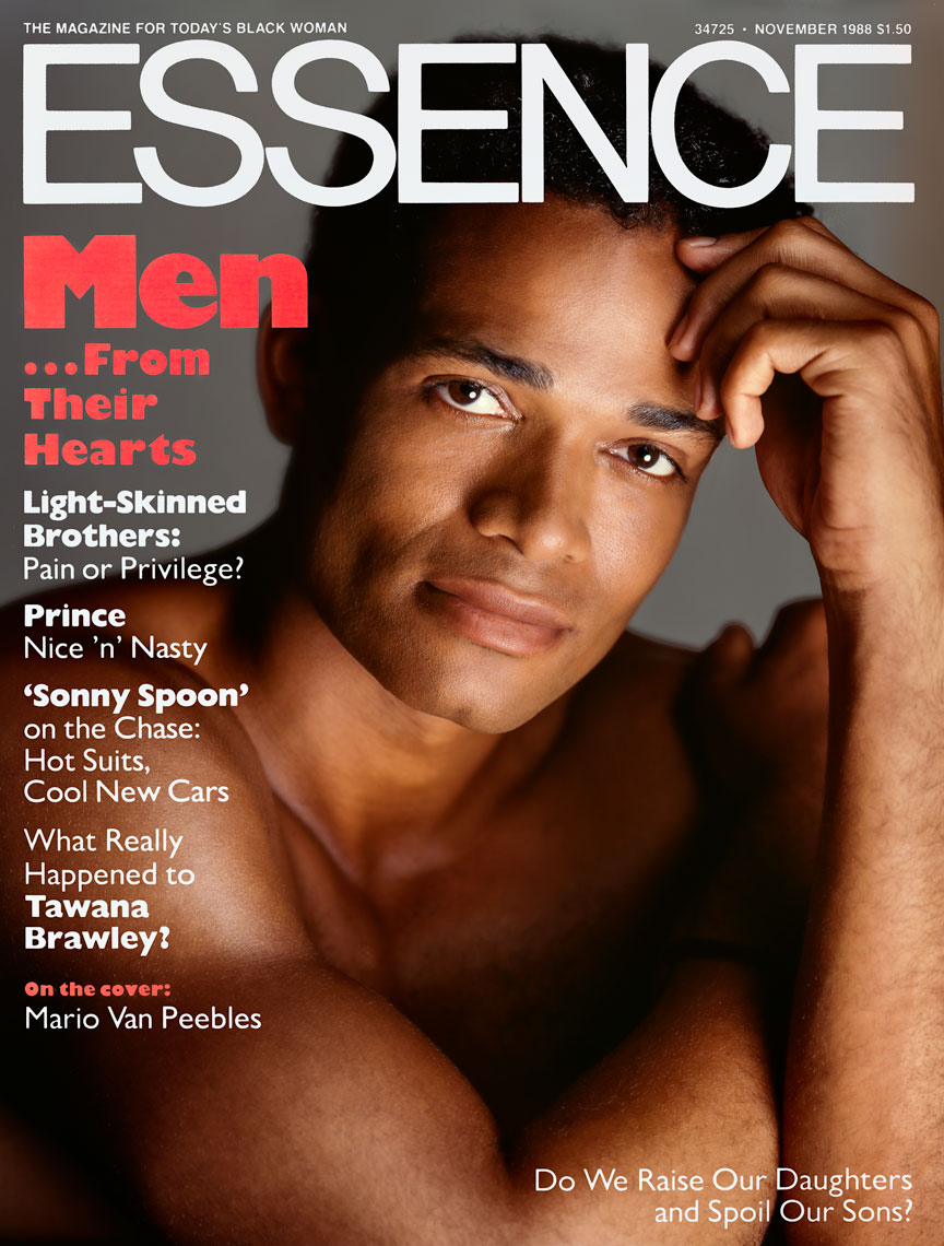 Mario Van Peebles Essence Magazine cover November1988 issue