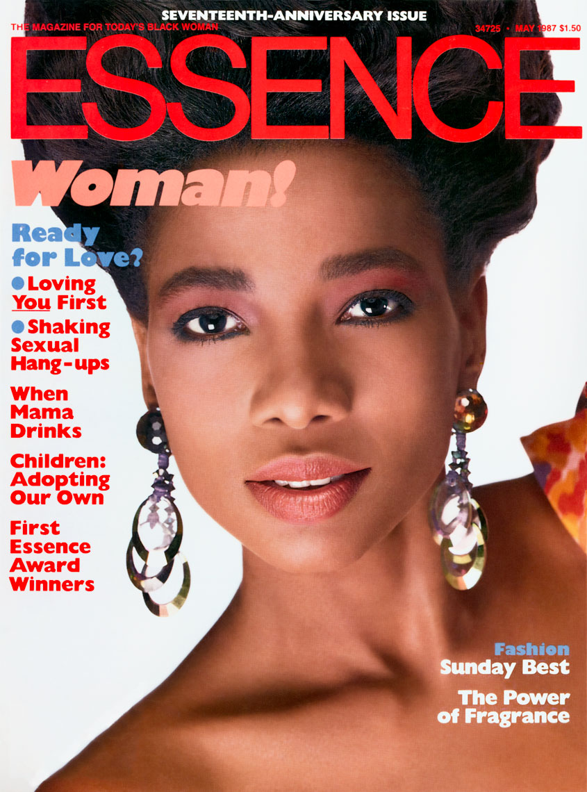 Mounia on the cover of Essence Magazine May 1987 Issue